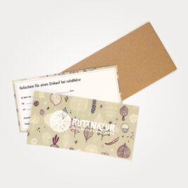 rutaNatur Geschenkgutschein für den Einkauf im Laden